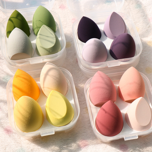 8pcs New Beauty Egg Set Gourd Water Drop Puff  Makeup Puff SetColorful Cushion Cosmestic Sponge Egg Tool Wet and Dry Use 2