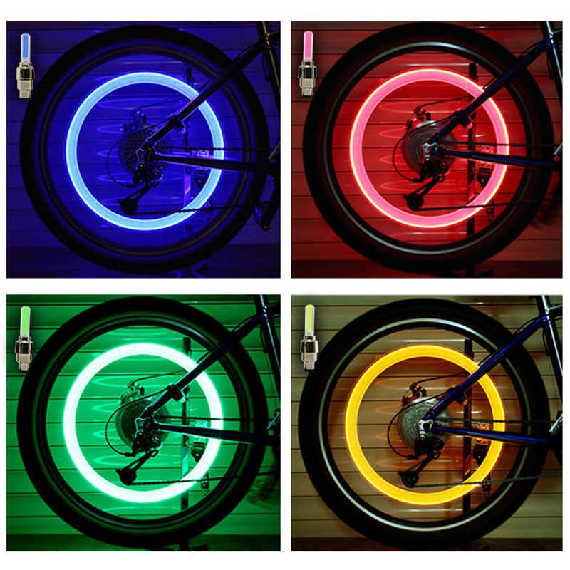 Luces de bicicleta, sensores de movimiento, luces de válvulas de bicicleta, lámpara con rayos de rueda, tapa de válvula de neumático, luz de bicicleta MTB, accesorios de bicicleta