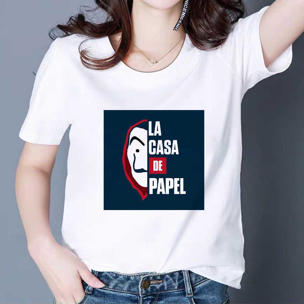 Camiseta de verão engraçado do punk do hip hop do punk do roubo do dinheiro