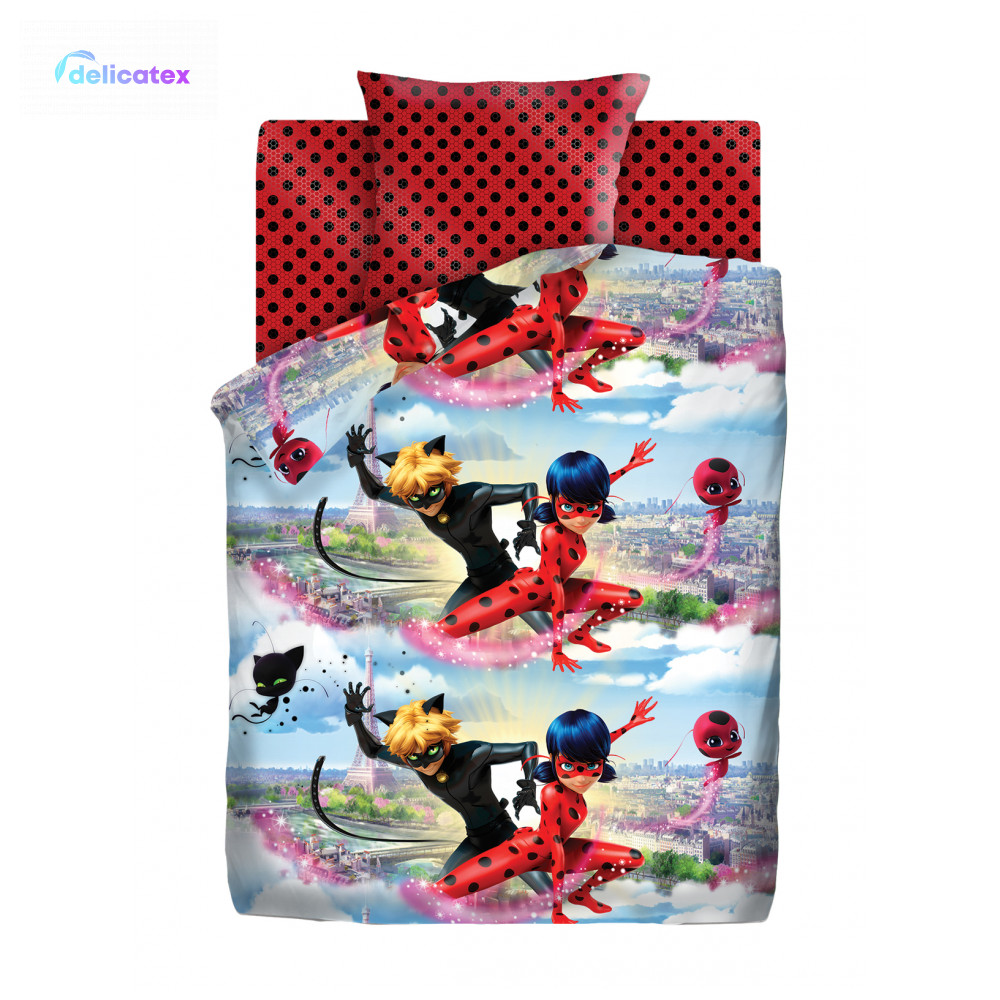 Ensembles de literie délicat 16022-1 + 16023-1 Ledi Bag i Super Kot maison Textile draps de lit linge housses de coussin housse de couette bébé coton