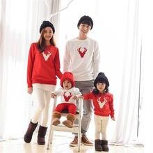 Новые Семейные одинаковые наряды для рождественской вечеринки