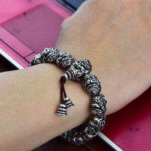 Image 3 - Boeddha Armband Kralen Armbanden Voor Mannen Monkey King Kralen Armband Met Bixie Charm Lucky Sieraden