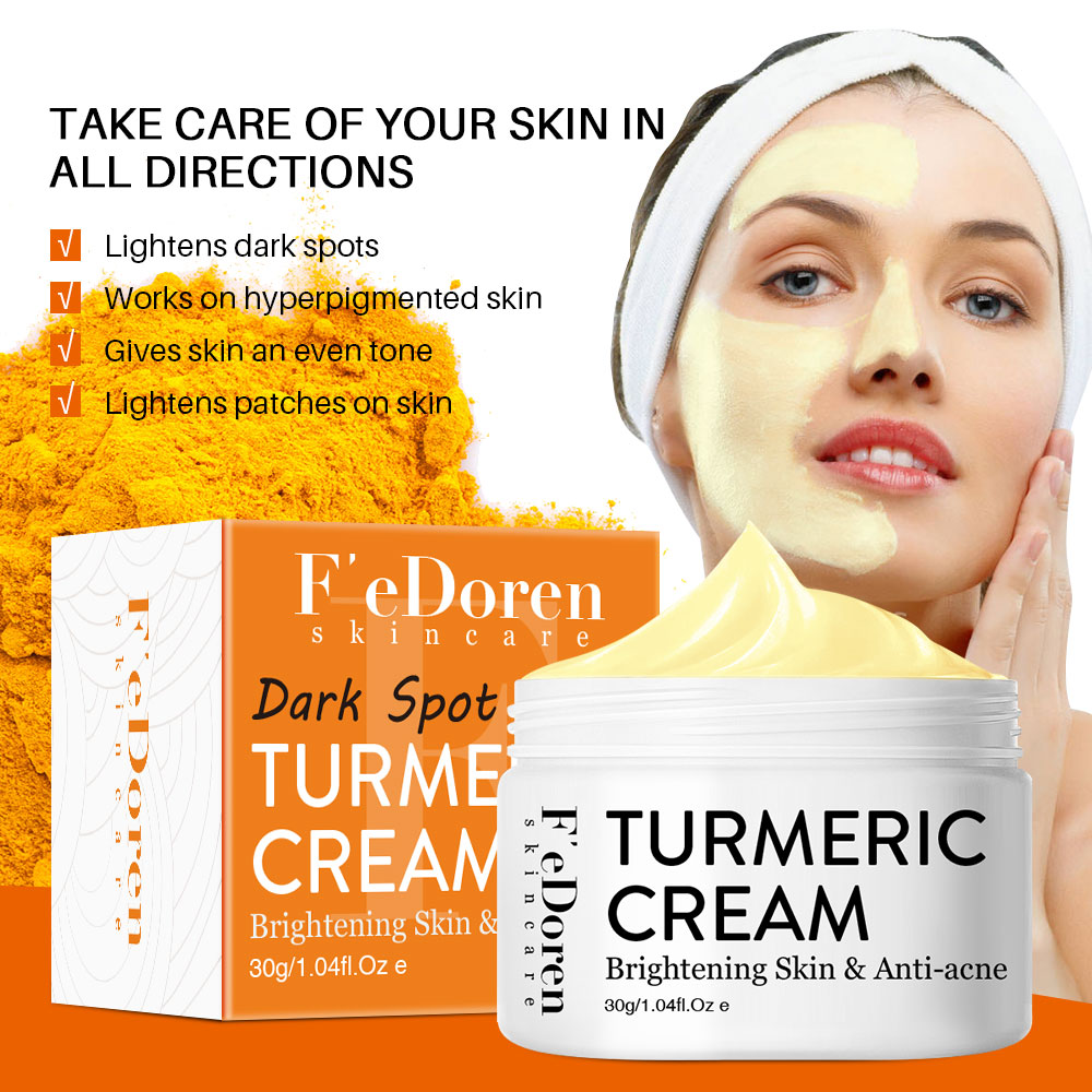 Herb Turmeric Face Cream Repair Acnes scar Dark spot Treatment Moisturizer Whitening Lightening Against Acne skin care 30ml