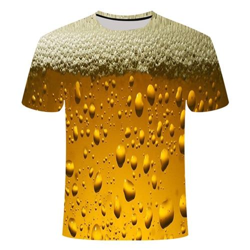 Летняя футболка с 3D принтом в виде пива, покера, для мужчин и женщин, забавная Новинка, футболка с круглым вырезом и коротким рукавом, топы, модные уличные мужские футболки - Цвет: TX253