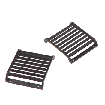 Latest 2Pcs Metal Front Lamp Guards Headlight Cover Grille for 1/10 RC Crawler Car image