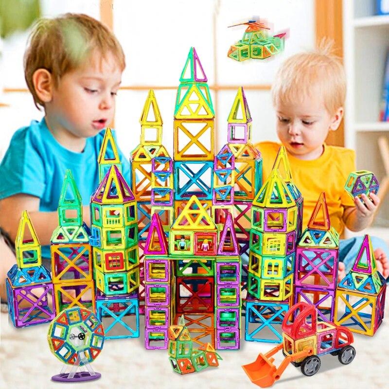 Blocos magnéticos de construção, tamanho grande, modelo de construção, brinquedos de construção, ímãs, brinquedos educativos para crianças