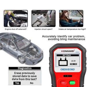 Image 4 - KONNWEI KW818 escáner de diagnóstico de coche OBDII ODB2, probador de batería de 12V, herramienta para comprobar el motor del lector de código automotriz
