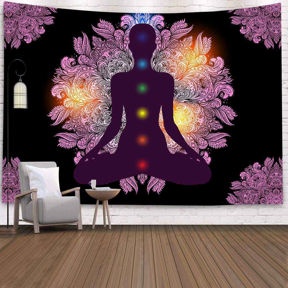3rd Eye Psychedelic Wall Art Decor Throw Tapestry Art Hippie Cloth Hanging Blue
