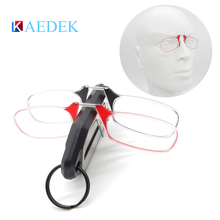 2019 New Clip Nose Reading Glasses Mini Folding Reading Glasses Men and Women's Easy Carry With Key Chain Case Prince-nez glass lacywear s 35 nez