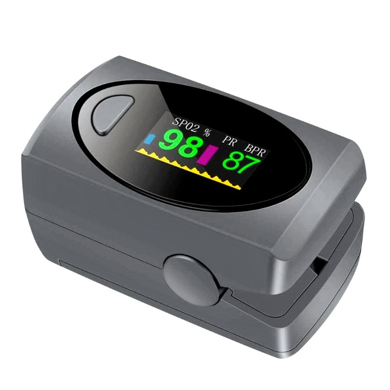 Mini Protable Finger Clip Pulse Oximeter Heart Rate Blood Oxygen Saturation SpO2 Monitor Family Aerobic Exercise Measure Activit