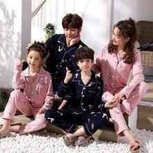 The New Family Pajamas Set Cotton Printing Pyjamas Kids Sleepwear Parent-child Outfits Woman 2019