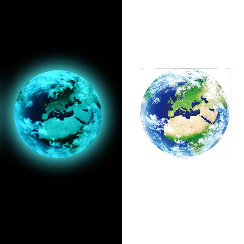 1pcs 5cm Luminous Earth 3D สติกเกอร์ผนังสำหรับห้องเด็กห้องนอนห้องนั่งเล่นตกแต่งห้องนอน Home Decals เรืองแสงใน the Dark สติ๊กเกอร์ติดผนัง