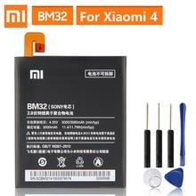 מקורי החלפת סוללה עבור Xiaomi Mi 4 M4 Mi4 BM32 אמיתי טלפון סוללה 3080mAh
