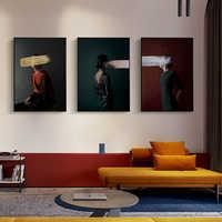 Retrato Vintage de mujer, arte alterado Retro, pintura en lienzo Pastel, pintura de pared de galería y sala de estar, póster Deco para el hogar