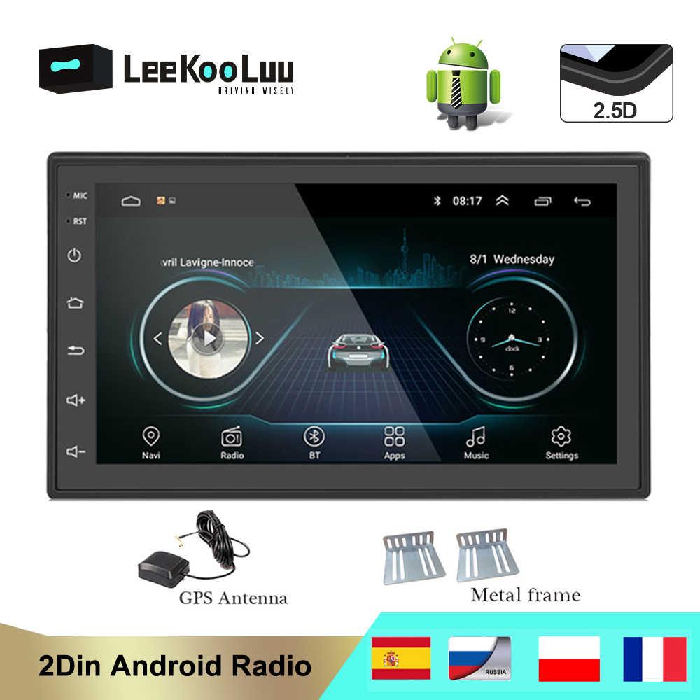 Leekooluu Android 2 DIN Mobil Radio MP5 Video Multimedia Player Autoradio Stereo GPS Navi untuk Ford Fucus Chevrolet VW Passat bora