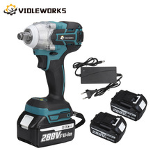 NEW 22800mAh 288VF Brushless Electric Impact Wrench 1/2 Lithium-Ion Battery 6200rpm 520 N.M Torque 110-240V