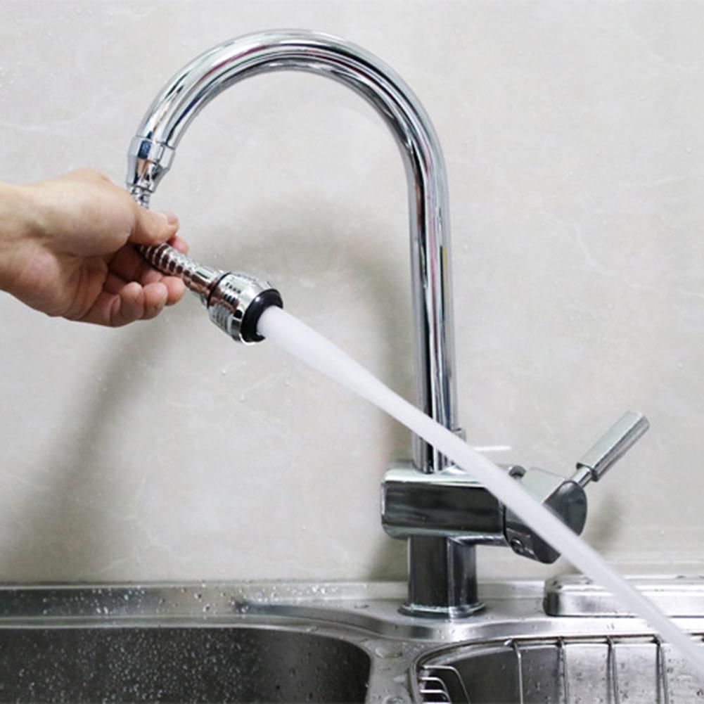 Поворотный кран удлинитель для экономии воды для кухонной ванной комнаты, раковины, брызгозащищенный носик, смеситель, фильтр, наконечник, ...