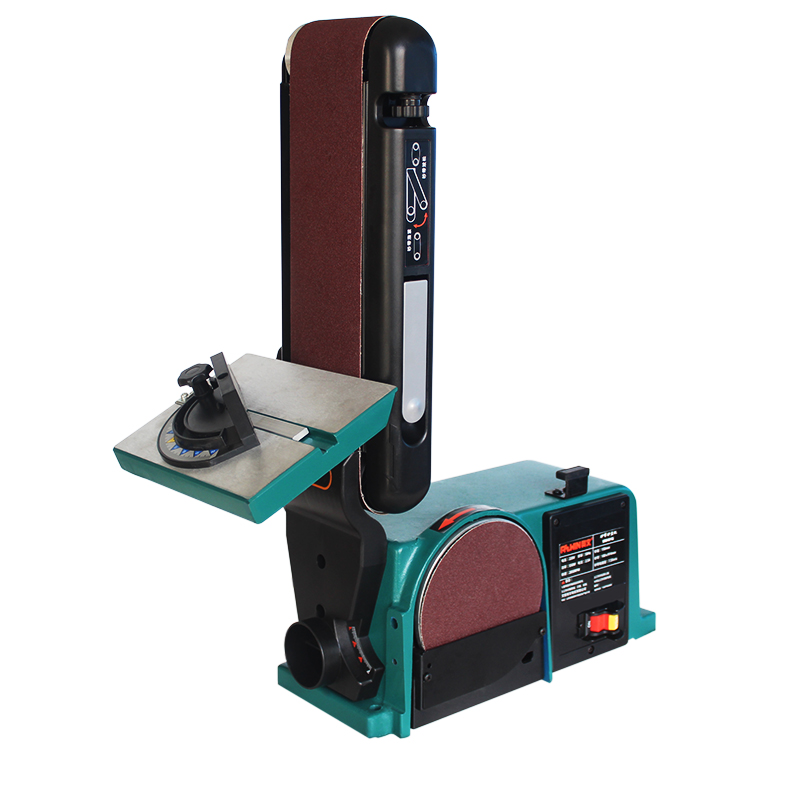 Sanding Electric Belt Sander Bench Wheel Polisher Belt Machine Grinding Polishing Machine Woodworking Polishing Tool 550W/750W
