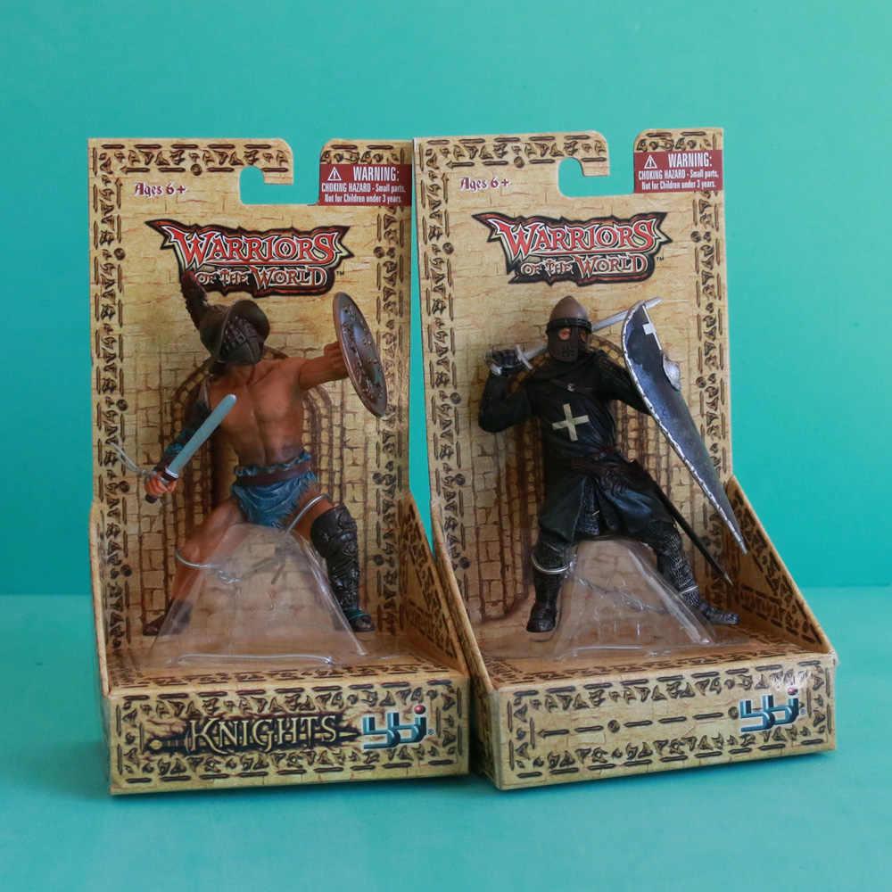 קלאסי צלמיות לוחמים של העולם רומי Gladlator Hospitaller אביר קרב ימי ביניים דגם פעולה איור צעצועים