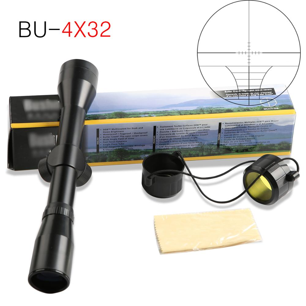 New 4x32 Tactical Telescope Air Rifle Optics Sniper Scope Sight Hunting Rail Mount 11mm For.22 Caliber Air Gun