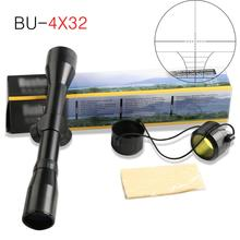 New 4x32 Tactical Telescope Air Rifle Optics Sniper Scope Sight Hunting Rail Mou