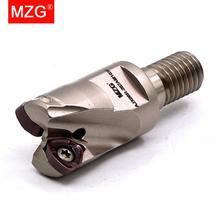 MZG AJX 06 08 09  CNC Lathe Machining  Modular JOMW Carbide Insert Screw In Fast Feeding ToolEnd Milling Cutter