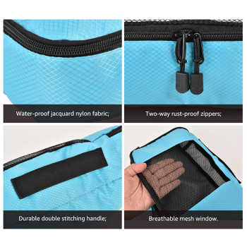 Packing Cubes Travel Luggage Organizer Waterproof Double Zip Men Women Travel Bag Organizer Hand Luggage Nylon Travel Bag