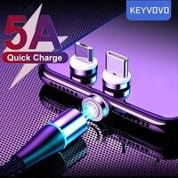 5A Sovralimentare Magnetico Cavo Micro USB di Ricarica di Tipo C Caricatore Rapido Magnete 2M Per Huawei P30 P20 P10 Compagno 20 Pro Samsung S20