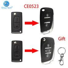 OkeyTech For Peugeot 306 407 807 Partner For Citroen C2 C4 C5 C6 C8 Berlingo Picasso CE0523 Modified Filp Remote Key Shell Case