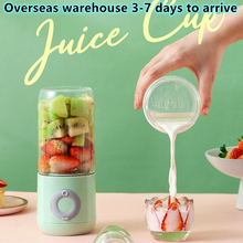 EZSOZO 500ML Electric Juicer Portable Smoothie Blender Cup Sixknife Mini Blenders USB Wireless Press Charging Manual Juicers Cup