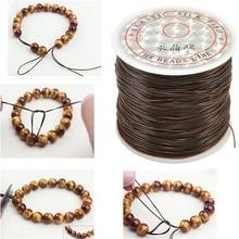 393 pouce/rouleau forte élastique cristal perles cordon 1mm pour Bracelets extensible fil chaîne collier bijoux à bricoler soi même faisant des cordes ligne