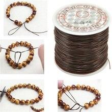 Cordón elástico fuerte de 1mm para abalorios de cristal, rollo de 393 pulgadas, para pulseras, collar de hilo elástico, fabricación de joyas DIY