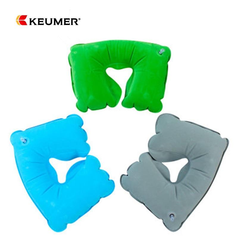 Manufacturers KOJEX Travel U-SHAPE Pillow Inflatable Pillow Flocking Pillow Neck Support Pillow Outdoor U-shaped Pillow Keumer