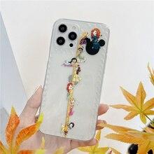 Coque de téléphone mignonne pour filles, étui souple et transparent avec dessin animé, résistant aux chocs, pour iPhone 11, 12 Pro Max, XR, XS, 8, 7 Plus, Mini SE