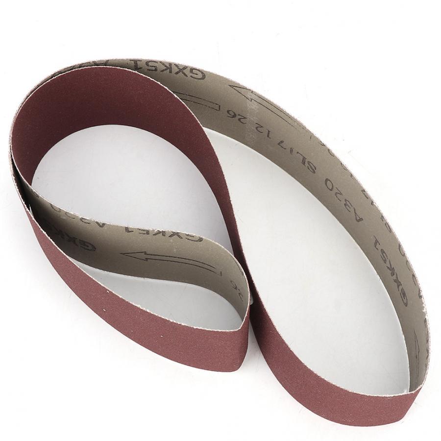 polissage des m/étaux travail du bois BE-TOOL Lot de 5 bandes abrasives en oxyde daluminium pour ponceuse /à courroie