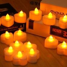 10 pçs de alta qualidade estilo do coração vela pequena led durável interior vela lâmpada lanterna halloween festa natal decoração