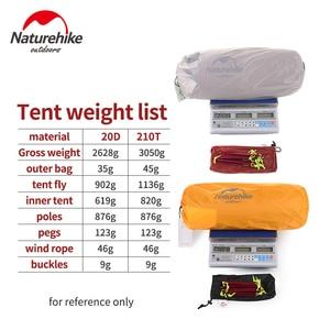 Image 5 - Naturehike Hiby kamp çadırı 3 4 kişi Ultra hafif açık aile kamp çift katmanlı yağmur geçirmez seyahat çadırı yürüyüş NH17K230 P