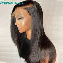 Remy malezya düz saç dantel ön peruk ön koparıp 8 34 inç dantel kapatma peruk için dantel Frontal İnsan saç peruk siyah kadınlar için