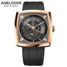 Часы agelocer 5603d2 мужские в стиле милитари швейцарские брендовые