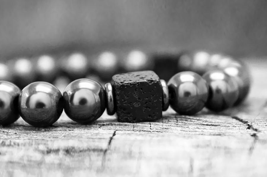 Ha9c8fd1e2ab1490db962e7dcea5eda6c6 Men Bracelet Natural Matte Stone Hematite Beads Bracelets