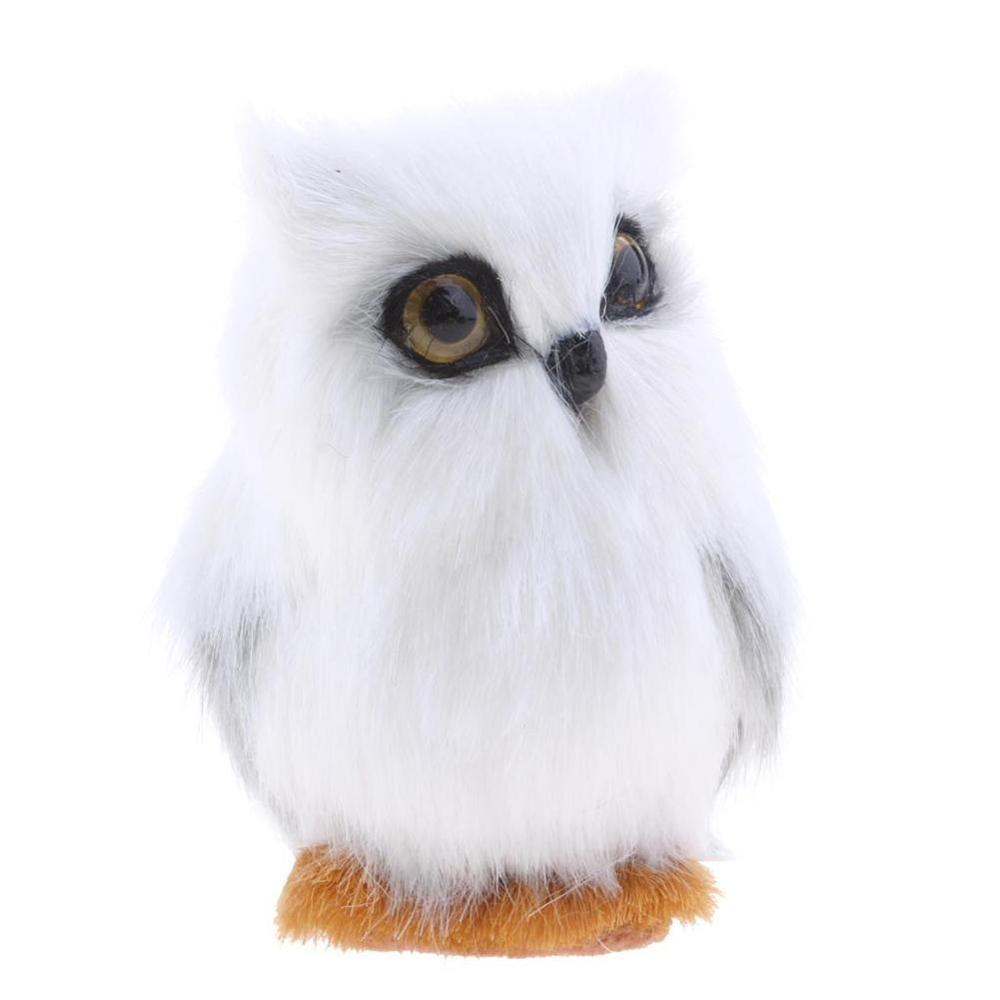 KITPIPI Artificial Feathered White Owl Christmas Ornament Decoration Pendant Adornment Simulation