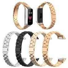 VODOOL New Stainless Steel Strap Watch Band Belt Durable Moderate Softness Comfortable for Samsung Galaxy Fit SM-R370 Smartwatch Loop Bracelet Accessories Intelligent clock