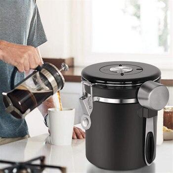 Stainless Steel Sealed Tank Storage Tank Moisture-proof Coffee Bean Milk Powder Jar Tea Pot Kitchen Grains Storage Box 4