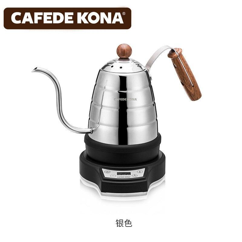 220V пуровер электрический чайник для кофе, Отопление, изоляция, таймер, 0.7L/Гавайская гитара 23 унций с регулируемой температурой точность упр... - 4