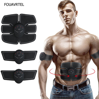 Electric Muscle Stimulator Massager Ems Wireless Abdominal Fitness Body Slimming for Weight Loss