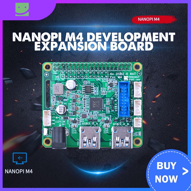 NanoPi M4 Dedicated PCIe To USB 3.0 Development Expansion Board, PCIex2 High-speed Transmission