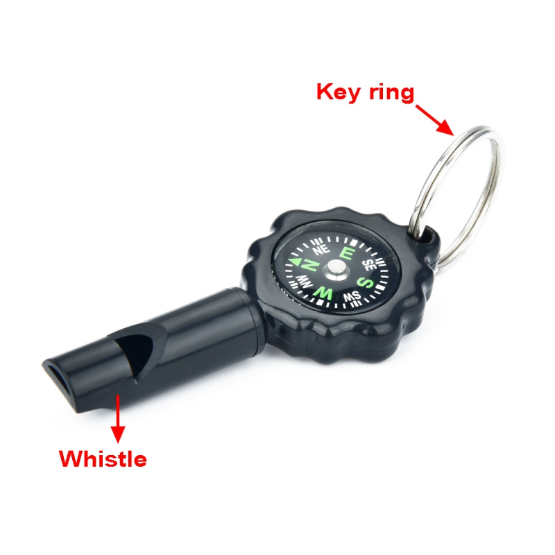 Multifunctional Whistle With Compass Key Ring EDC Sports Emergency Survival Tool For Outdoor Hiking Traveling Camping tools(China)
