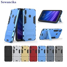 Phone case for Huawei Y9 (2019)(6.5) Armor hybrid PC + TPU 2in1 sport Y5 Y6 (2018) with Kickstand cover