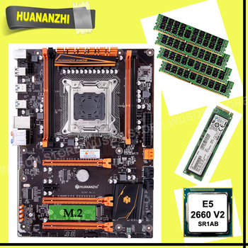 Discount HUANANZHI X79 motherboard with M.2 128G NVMe SSD motherboard with CPU Xeon E5 2660 V2 SR1AB RAM 4*8G DDR3 1600 REG ECC