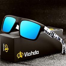 Viahda 2020 nova marca quadrada polarizado óculos de sol dos homens do esporte designer mormaii óculos de sol gafas de sol com caixa
